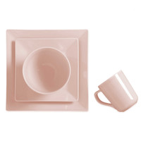 Real Simple® Square 4-Piece Place Setting in Tea Rose