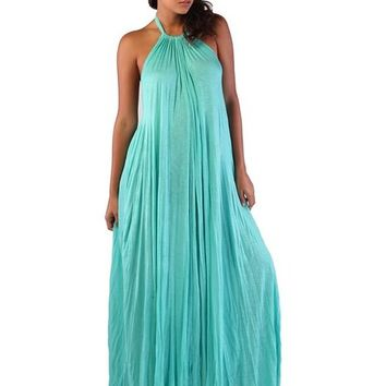 Tent Maxi Dress Aqua | Bokeelia Boutique