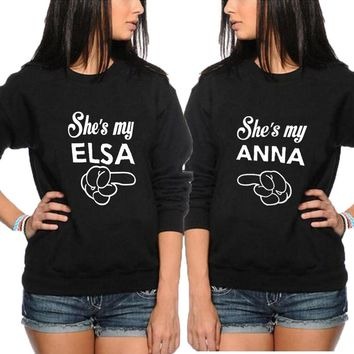 She's my Anna and She's my Elsa Best Friend Sweatshirt Pullovers