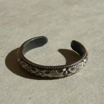Toe Ring Handmade from Sterling Silver with by NiciLaskin on Etsy