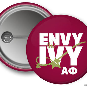 Alpha Phi Envy The Ivy Sorority Greek Button