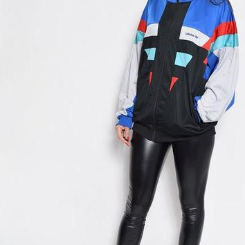 Vintage 80's Adidas Color Block Zipper Jumper Jacket