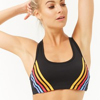 High Impact - Striped Sports Bra