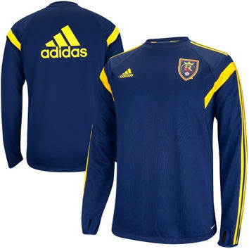 adidas Real Salt Lake Training Long Sleeve Performance T-Shirt - Navy Blue