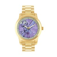 Disney Tinkerbell Gold Tone Stainless Steel Watch (Yellow)