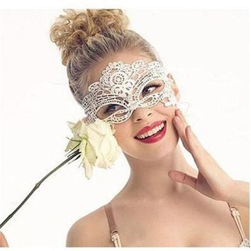 CREYONHS 20Pcs Masque Sexy Female Mask Anonymous Masquerade Upper Face Lace Mask Fashion Beauty Dacing Party Eye Mask Halloween