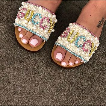 GUCCI Diamonds and pearls perfect Sandals