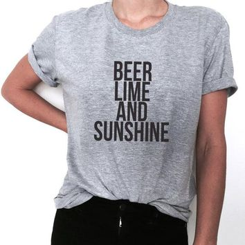 Beer lime and sunshine - Women Drinking T-Shirt