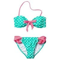 Target : Xhilaration® Junior's 2-Piece Swimsuit -Polka Dot Print : Image Zoom