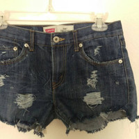 "Vintage Levi's 514 Denim Cutoffs | 26"" Waist 