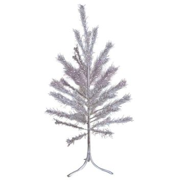 Pre-owned Aluminum Christmas Tree with Box Sleeves - 4'