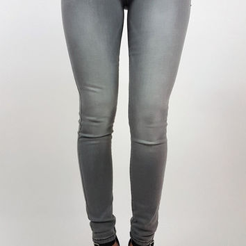 Stretch Skinnies - Lt. Grey | ZOE Boutique