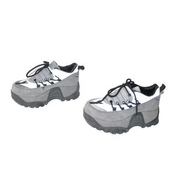 PLATFORM sneakers vintage 90s ATHLETIC reflective CLUB kid mega platforms runners