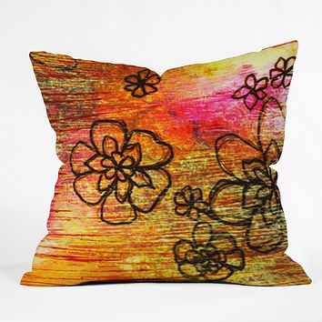 Sophia Buddenhagen Yellow Flowers Throw Pillow