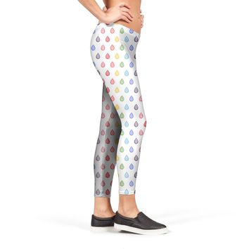 Rainbow droplets pattern Leggings by Savousepate from €37.00 | miPic