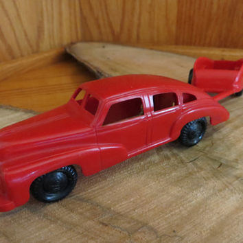 Vintage Ideal Toys Hudson Car and Trailer 1-375 and 1-409