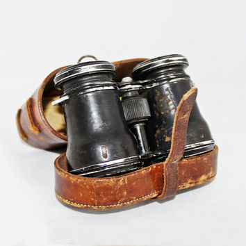 Vintage Mini Binoculars /  Opera Theater Glasses / German Binoculars Demuth Berlin