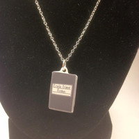 Erotic Friend Fiction Bob's Burgers Inspired Acrylic Charm 18 Inch Silver Necklace