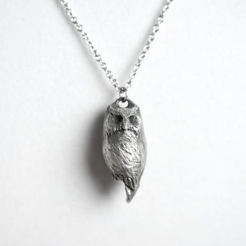 Owl Necklace, Sagittarius, November / December Birth Totem