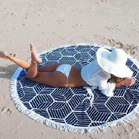 Chiffon Beach Towel Indian Mandala Wall Hanging Tapestry Bohemian Roundie shawl Cover Up Yoga Mat Blanket Tablecloth Home Decor