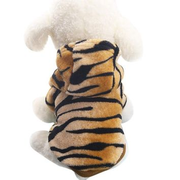 Pet Cat Clothes Soft and Warm Flannel Small Dog Cat Costume Leopard Puppy Dog Kitten Casual Coat Hoodies Apparel Clearance Sale!