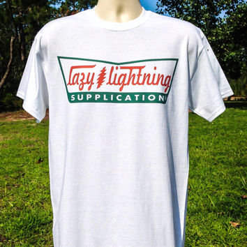 Lazy Lightning  - Supplication parody Bob Weir T shirt in mens and womens sizes+ GD50 + Fare the well + deadhead shirt + psychedelic