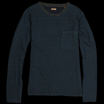 UNIONMADE - Kapital - Jersey Patchwork Long Sleeve Tee in Indigo