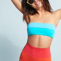 Mara Hoffman Colorblock High-Waisted Bikini Bottoms
