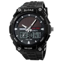 jeansian Men's LED Digital Watch Fashion Plastics Band ZWG013