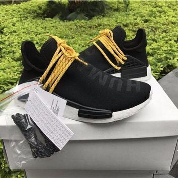 VON3TL Sale Pharrell Williams x Adidas PW HU Human Special NMD Pitch Black Boost Sport Running Shoes Classic Casual Shoes Sneakers