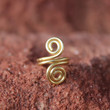 Metal Brass Tooled Ear Cuff with Swirls for Men Women Unisex, Tribal BOHO Earthy Gift, Durable Design, Nature Eco Jewelry, Gold Ear Cuff