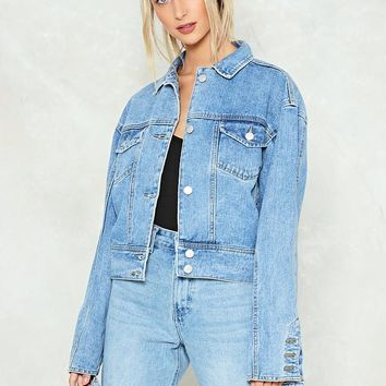 Cut and Paste Denim Jacket