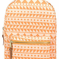 Herschel Supply Co Backpack Settlement Mid Volume in Chevron Butterscotch and Steel Blue
