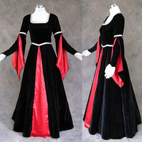 Custom Made Medieval Renaissance Gown Goth Vampire Dress