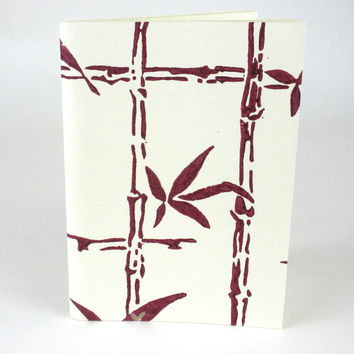 Wine Bamboo Soft Journal Recycled Fabric Pages