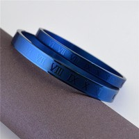 Stylish Shiny Jewelry New Arrival Couple Roman Ladies Titanium Ring Bangle [36656545799]