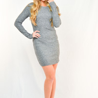 Heather Grey Bodycon Sweater Dress