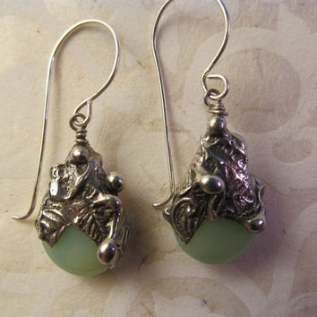 Timeless Relics Collection one-of-a-kind Earrings - Soft Mint Green
