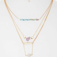 Topshop Bead & Stone Multi-Row Necklace   Nordstrom