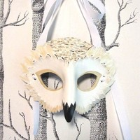 Made to Order Adult Size Snowy Owl Mask by SundriesAndPlunder