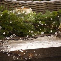 RUSTIC CRYSTAL OUTDOOR GARLAND