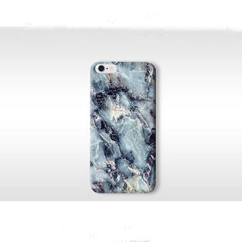 Blue Stone Grain Marble Iphone 5s 6 Plus Cases Cover