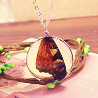 Vintage Style Handmade Butterfly Specimens Necklace Gift 131