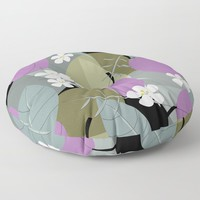 Plums Festival Floor Pillow by mirimo
