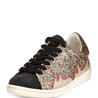 Isabel Marant Glitter Suede Flame Trainer