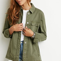 Collared Button-Down Jacket