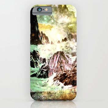 space mountains iPhone & iPod Case by Haroulita