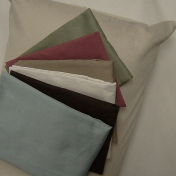 Zippered 20x54 inch-1200tc Solid Body Pillow Protectors-7 Colors-Made in the USA Color: White