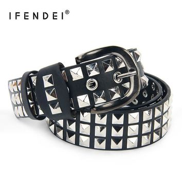 BELT Unisex Women's or Men's Punk Rivets Belt PU Leather