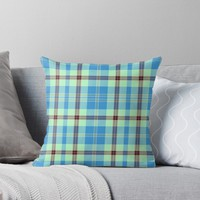 'TARTAN PATTERN 10' Throw Pillow by IMPACTEES